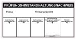 De Brandschutz 9601 Instandhaltungsnachweis Feuerlöscher